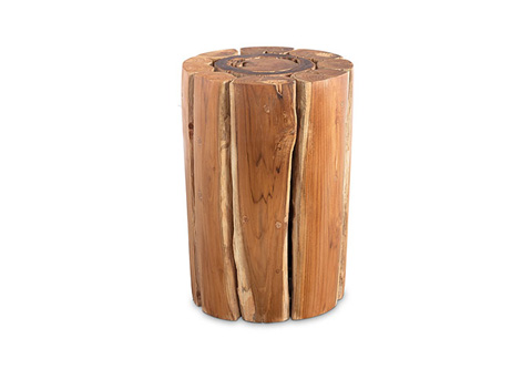 Phillips Collection - Bleached Teak Wood Stool - TH72224