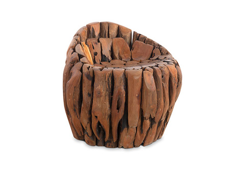 Phillips Collection - Natural Teak Wood Chair - TH72226