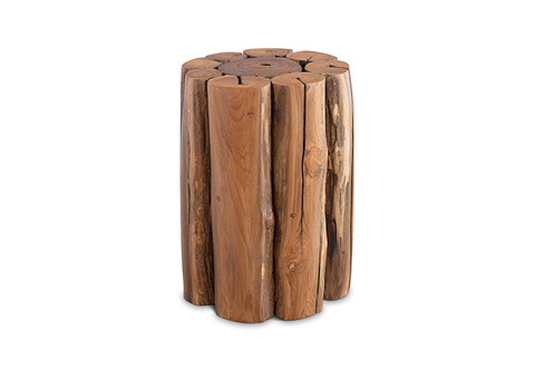 Phillips Collection - Natural Teak Wood Stool - TH72228