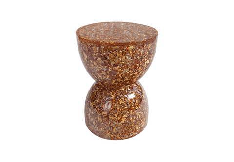 Phillips Collection - Captured Gold Flake Hourglass Stool - TH76891