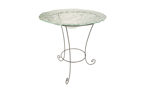Phillips Collection - Frosted Glass Bowl on Stand - ID76851
