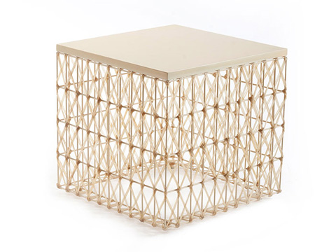 Phillips Collection - Weaved Leatherette Side Table - PH61088