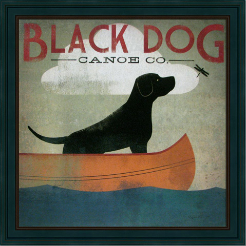 The Picture Source - Black Dog Canoe - AKF201