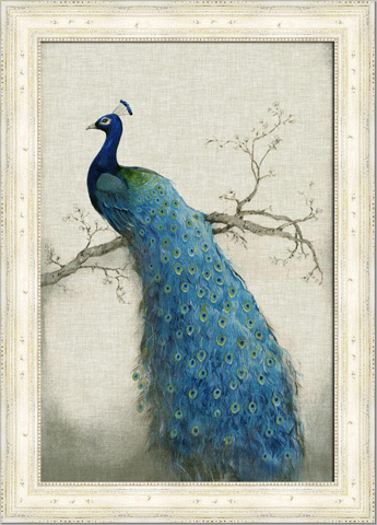 The Picture Source - Embellished Peacock Blue I - CWO101B