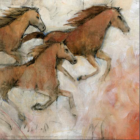 Picture Source, The - Horse Fresco II - CWO122B