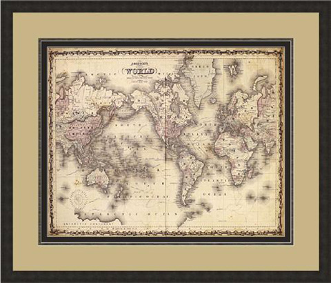 The Picture Source - Map Of The World - J424A