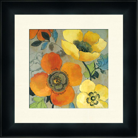 The Picture Source - Yellow And Orange Poppies I - P401A