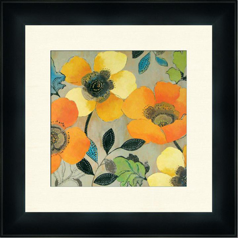 The Picture Source - Yellow And Orange Poppies I - P401B