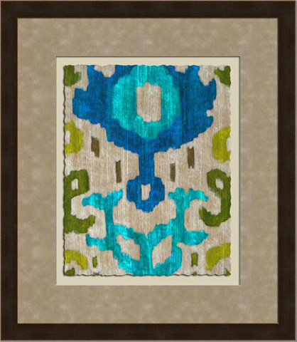 The Picture Source - Teal Ikat I - Z124A