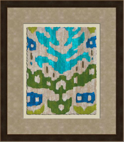 The Picture Source - Teal Ikat II - Z124B