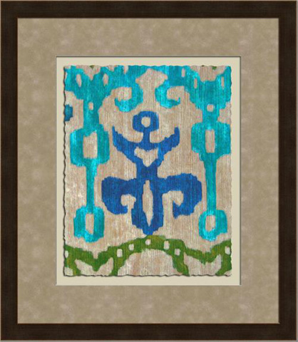 The Picture Source - Teal Ikat III - Z124C