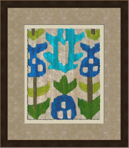 The Picture Source - Teal Ikat IV - Z124D