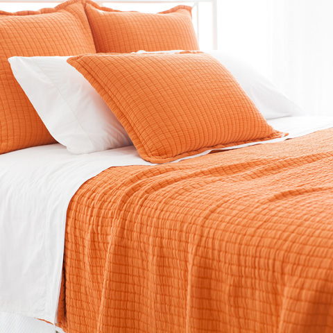 Pine Cone Hill, Inc. - Boyfriend Orange Matelasse Coverlet - King - M21OK