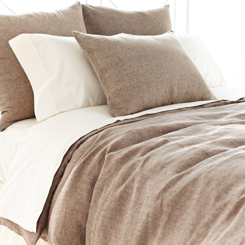 Pine Cone Hill, Inc. - Chambray Linen Sable Duvet Cover - King - CHLSDCK