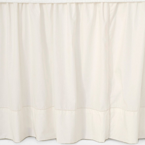 Pine Cone Hill, Inc. - Classic Hemstitch Ivory Bed Skirt - King - SCLHIBSK