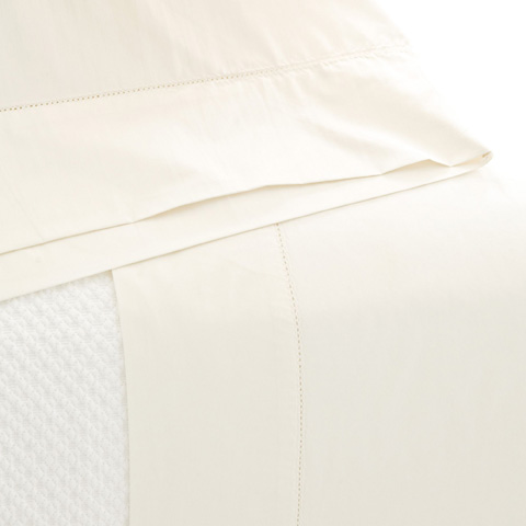 Pine Cone Hill, Inc. - Classic Hemstitch Ivory Sheet Set - King - SCLHISK