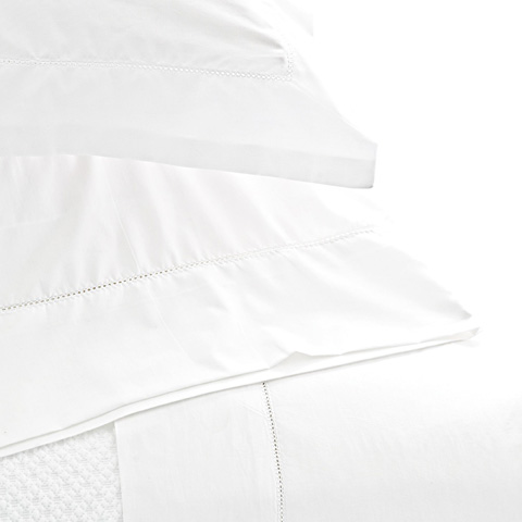 Pine Cone Hill, Inc. - Classic Hemstitch White Sheet Set - King - SCLHWSK