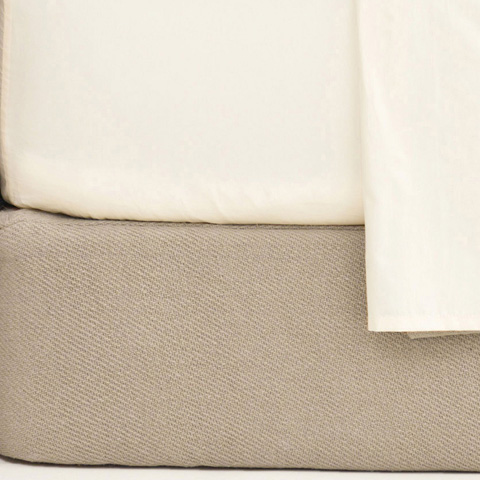 Pine Cone Hill, Inc. - Cotton Twill Oatmeal Box Spring Cover - King - CTOBCK