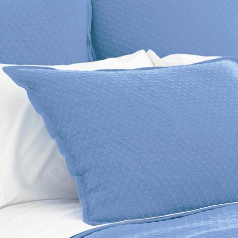 Pine Cone Hill, Inc. - Diamond French Blue Matelasse Pillowsham - King - M15FBSK