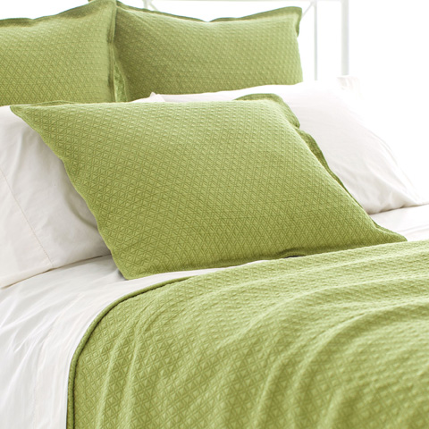 Pine Cone Hill, Inc. - Diamond Key Lime Matelasse Coverlet - King - M15KLK