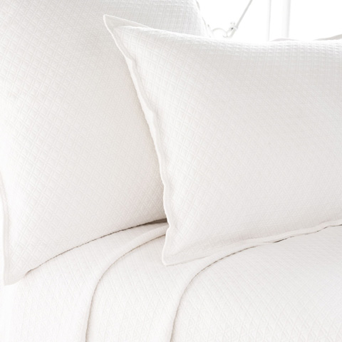 Pine Cone Hill, Inc. - Diamond White Matelasse Sham - Standard - M15WSS