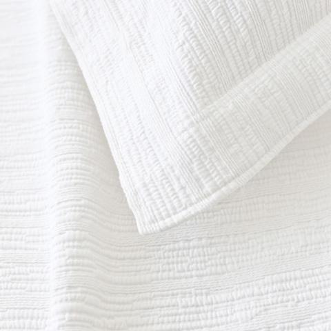 Pine Cone Hill, Inc. - Hardwood White Matelasse Sham - Standard - M16WSS