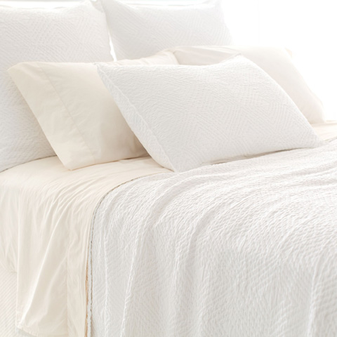Pine Cone Hill, Inc. - Kerala White Matelasse Coverlet - King - M18WK