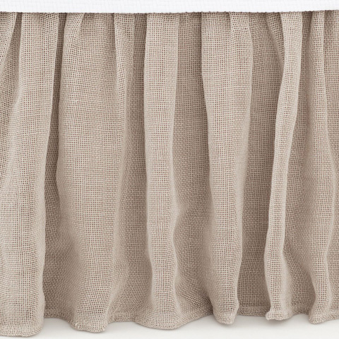 Pine Cone Hill, Inc. - Linen Mesh Bed Skirt - King - LMBSK