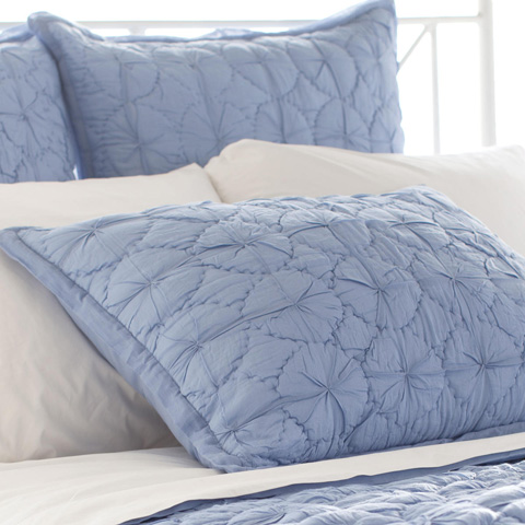 Pine Cone Hill, Inc. - Marina French Blue Quilted Sham - Standard - Q259BSS