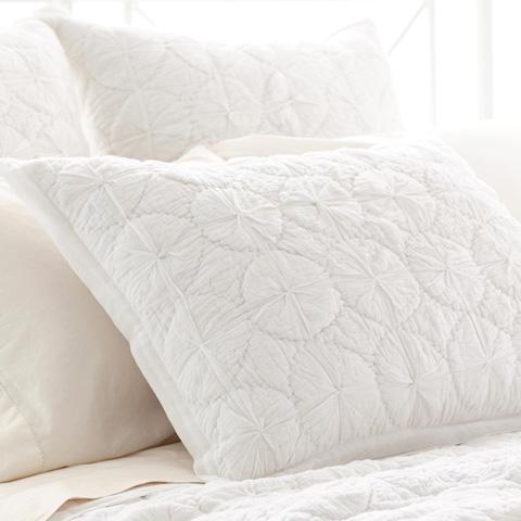 Pine Cone Hill, Inc. - Marina White Quilted Sham - European - Q259WSE