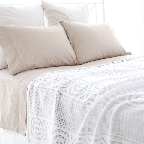 Pine Cone Hill, Inc. - Melanie White Coverlet - King - MEWCVK