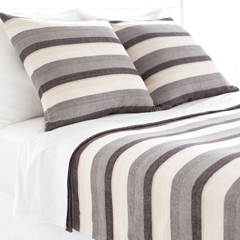 Pine Cone Hill, Inc. - Montego Stripe Grey Chenille Blanket - King - MSGK