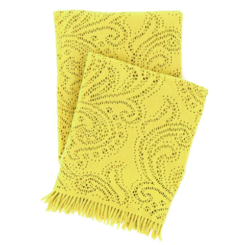 Pine Cone Hill, Inc. - Paisley Lace Chartreuse Throw Blanket - PLCTHR