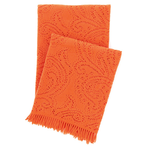 Pine Cone Hill, Inc. - Paisley Lace Orange Throw Blanket - PLOTHR