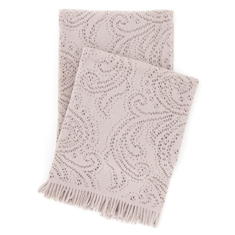 Pine Cone Hill, Inc. - Paisley Lace Stone Throw Blanket - PLSTHR