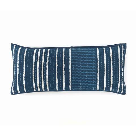 Pine Cone Hill, Inc. - Resist Stripe Indigo Decorative Pillow - RSIKDPDB