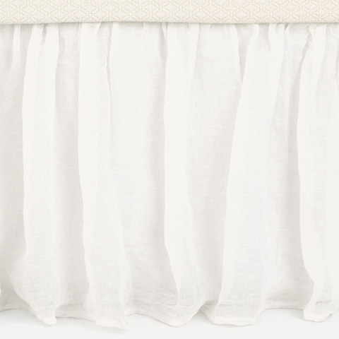 Pine Cone Hill, Inc. - Savannah Linen Gauze Ivory Bed Skirt - King - SAIBSK