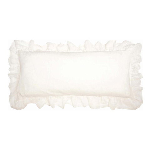 Pine Cone Hill, Inc. - Savannah Linen Gauze Ivory Decorative Pillow - SAIDPDB