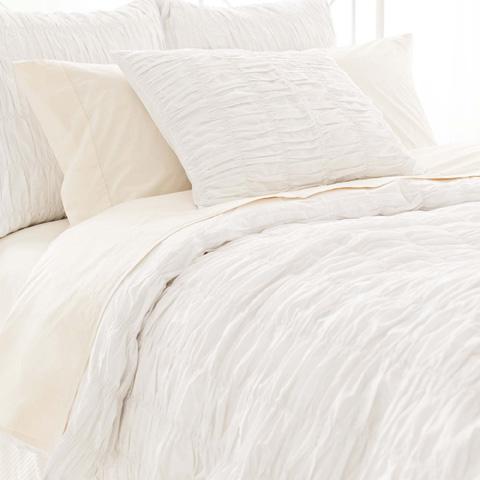 Pine Cone Hill, Inc. - Smocked White Duvet Cover - King - SMOWDCK