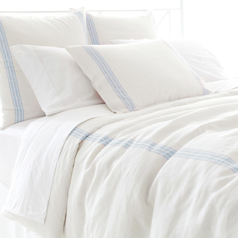 Pine Cone Hill, Inc. - Varana Linen French Blue Duvet Cover - King - VFBDCK