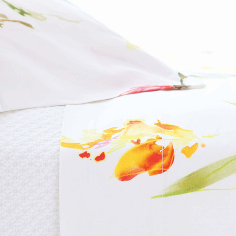 Pine Cone Hill, Inc. - Watercolor Flowers Pillowcases (Pair) - Standard - WCFCSS