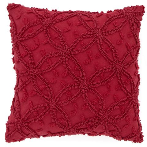 Pine Cone Hill, Inc. - Candlewick Crimson Decorative Pillow - CDLRDDP-18