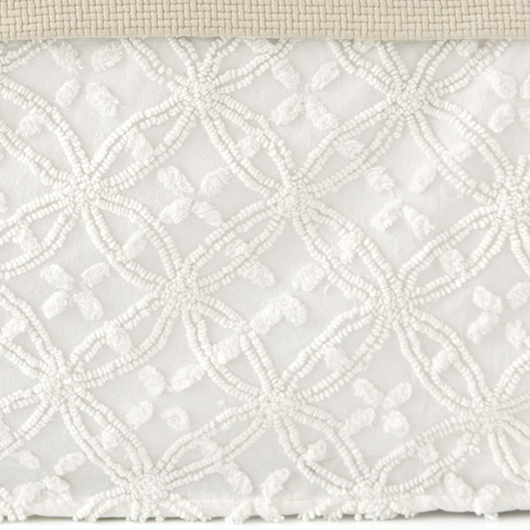 Pine Cone Hill, Inc. - Candlewick Dove White Bed Skirt in Queen - CDLWBSQ