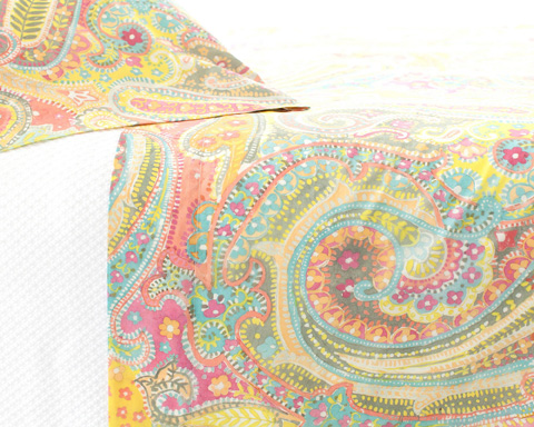 Pine Cone Hill, Inc. - Lyric Pair of Standard Paisley Pillowcases - LYPCSS