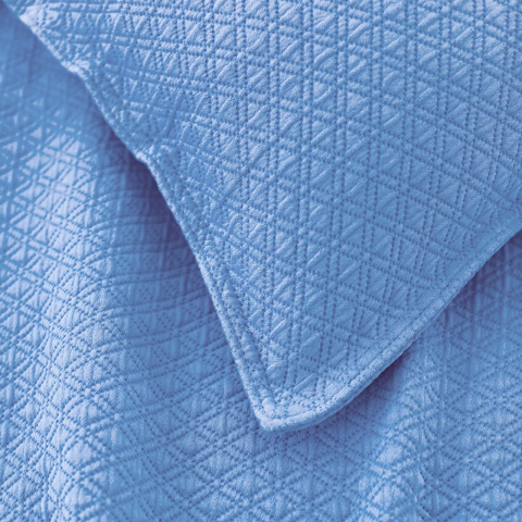 Pine Cone Hill, Inc. - Diamond French Blue Matelassé Coverlet in Queen - M15FBQ