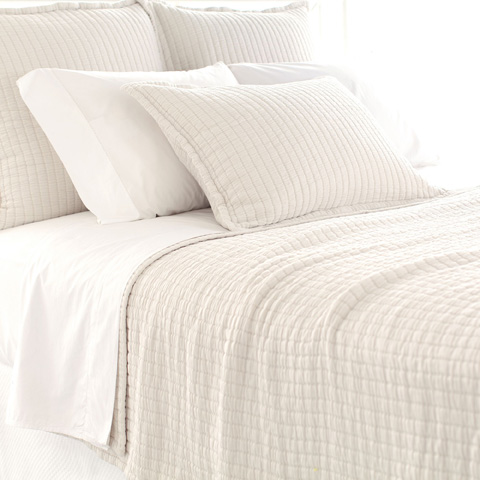 Pine Cone Hill, Inc. - Boyfriend Ivory Matelassé Coverlet in Queen - M21IQ