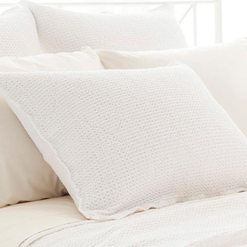 Pine Cone Hill, Inc. - Serena White Matelassé Sham-Standard - M23WSS