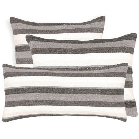 Pine Cone Hill, Inc. - Montego Stripe Grey Chenille Decorative Pillow - MSGDPDB