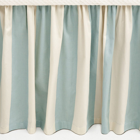 Pine Cone Hill, Inc. - Madeline Stripe Blue Bed Skirt in Queen - Q227BSQ
