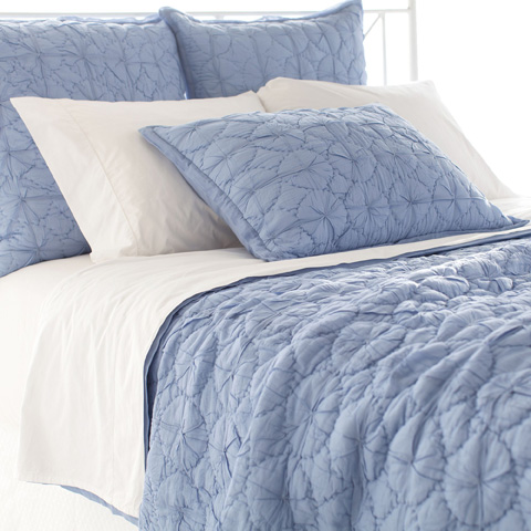 Pine Cone Hill, Inc. - Marina French Blue Quilt in Full/Queen - Q259BFQ